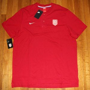 NEW Nike US National Team Soccer Henley Men's 2XL